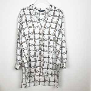 Zara Chain Print Tunic Size Medium